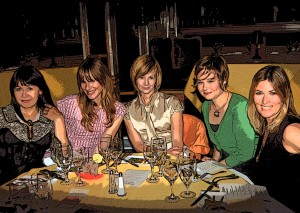 (L to R: Mrs. L. Robinson, Mrs. D. Robinson, Mrs. M. Robinson, Mrs. R. Robinson, and yours truly)